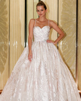 randy fenoli wedding dress spaghetti strap sweetheart blush ball gown