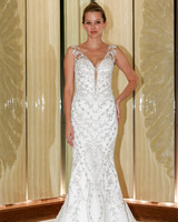 randy fenoli wedding dress v-neck beaded cutout trumpet