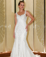 randy fenoli wedding dress embellished sleeveless trumpet