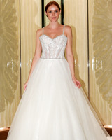 randy fenoli wedding dress spaghetti strap embellished bodice ball gown