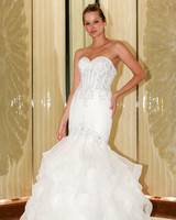 randy fenoli wedding dress sweetheart embellished ruffles mermaid