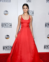 Selena Gomez wearing Prada on the 2016 AMA red carpet