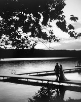 sofi ben camp wedding couple walking on dock