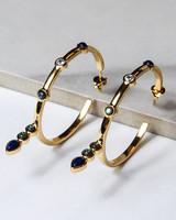 hoop and pendant earrings