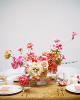 summer wedding centerpieces flora Fuchsia Explosion