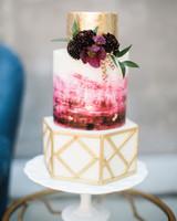 unique wedding cake mixed shapes