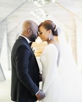 vanessa abidemi wedding couple bride and groom holding hands