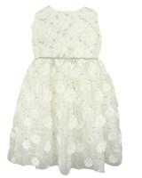 winter flower girl sleeveless metallic floral embroidery dress