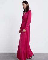 long red zara dress