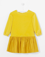 yellow long-sleeve flower girl dress