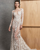 zuhair murad dress fall 2018 long sleeves high neck trumpet