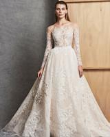 zuhair murad a-line ball gown wedding dress with long-sleeves fall 2018