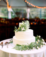 fern wedding cake