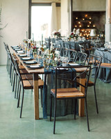 wedding reception table long black
