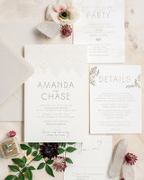 amanda chase wedding invitation suite