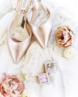 amanda chuck wedding accessories shoes ring earrings roses