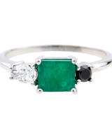 Bario Neal Emerald Engagement Ring
