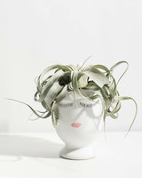 be my bridesmaid face vase containing air plant
