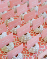Beach Wedding Shower Table Cards