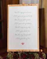 bee wedding ideas poem on sign