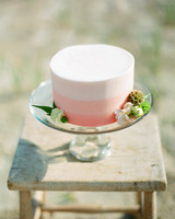 bridal shower blush pink cake