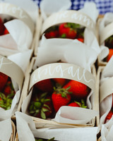 bridal shower favors fruit basket strawberry
