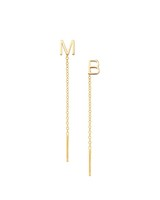 maya brenner letter earrings
