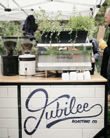 coffee wedding ideas catering cart