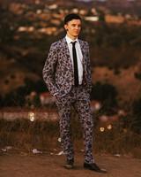 floral print suit