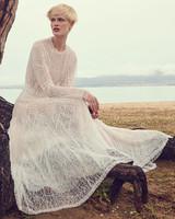 costarellos jewel long sleeve a line sheer wedding dress spring 2020