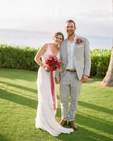 v-neck lace chiffon overlay white wedding dress