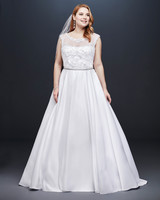 david bridal wedding dress spring 2019 cap sleeves illusion a-line