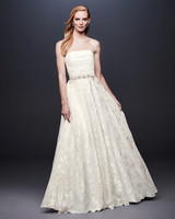 david bridal wedding dress spring 2019 strapless patterned beaded belt