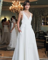 Simple Strapped Wedding Dress with Pockets