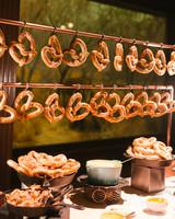 duff goldman wedding cocktail hour pretzels
