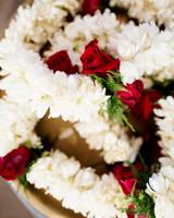 traditional milni floral garlands