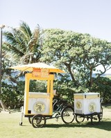 wedding slushie cart