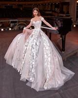galia lahav off the shoulder panelled ballgown wedding dress spring 2020