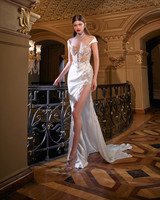 galia lahav high slit sheath jeweled wedding dress spring 2020