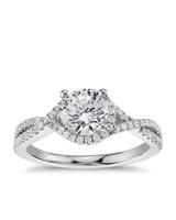 Blue Nile Twisted Halo Diamond Engagement Ring