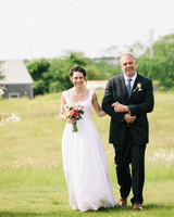bride with father during processional