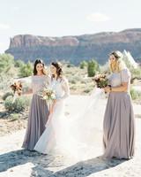 jeanette david wedding bride bridesmaids desert