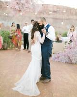 jeanette david wedding desert couple first dance