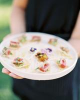 jena donny wedding appetizers on tray
