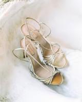 kseniya sadhir wedding italy bride metallic shoes