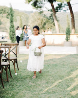 kseniya sadhir wedding flower girl dropping petals