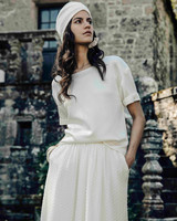 Laure de Sagazan Wedding shirt and short sleeve top
