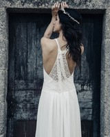 laure de sagazan lace back spring 2018 wedding dress