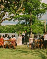 leah michael wedding outdoor ceremony