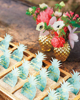 Pineapple-Shaped Escort Cards